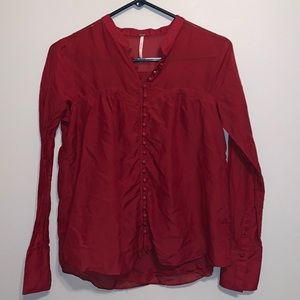 Free People Button Blouse